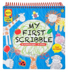Top 10 Art & Craft Supplies For 2 Year Olds - scribbles are fun, not only as an art activity but also for writing skills!