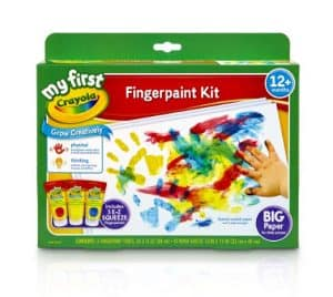 Finger painting is a fun hands-on activity for toddlers that will keep them busy for some time!