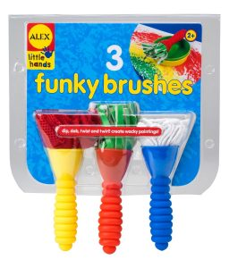 Top 10 Art & Craft Supplies For 2 Year Olds - make art fun for your toddlers with funky brushes!