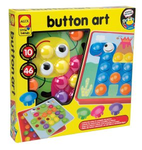To 10 Art & Craft Supplies For 2 Year Olds - Button art set for toddlers