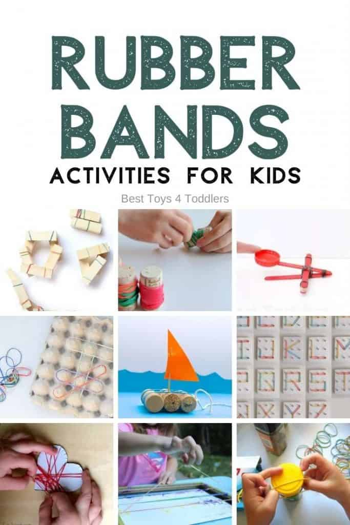 Amazing rubber band activities for kids - If you are looking for fun rubber band activities and games to play using a few other materials lying around your home, take a look at this list of amazing play ideas with rubber bands.