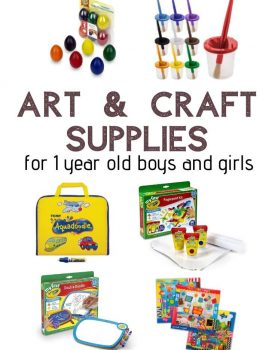 The best art and craft supplies for 1 year old boys and girls