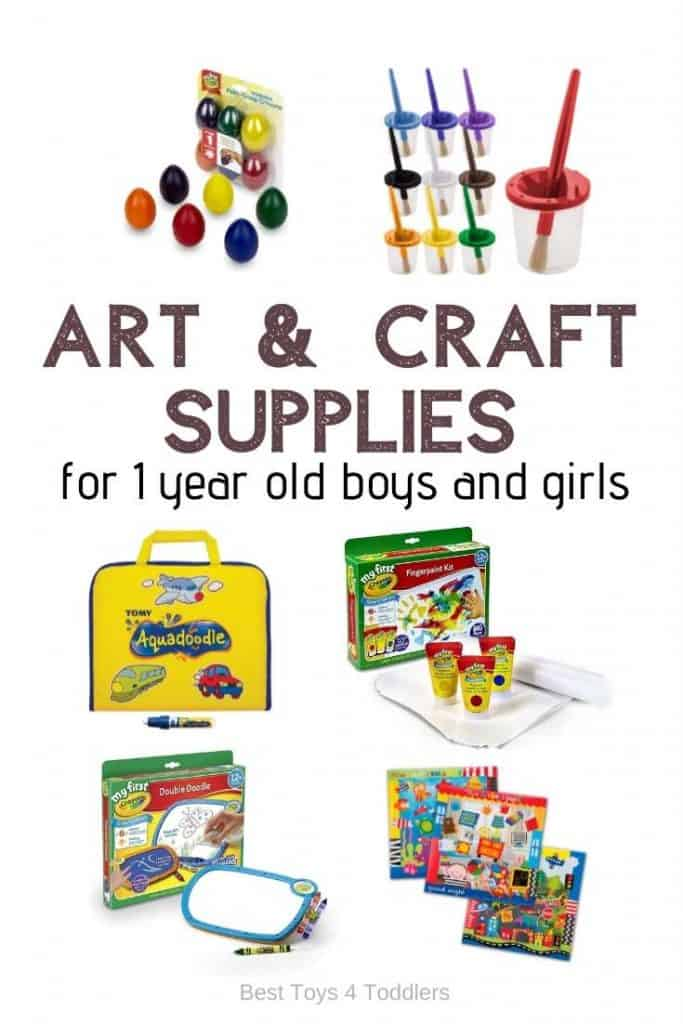 The best art and craft supplies for 1 year old boys and girls - Arts and crafts for kids develop the imagination, fine motor skills, and even boost your child's self-esteem.
