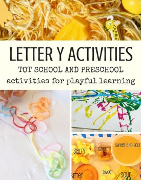 Letter Y Activities for Tot School and Preschool