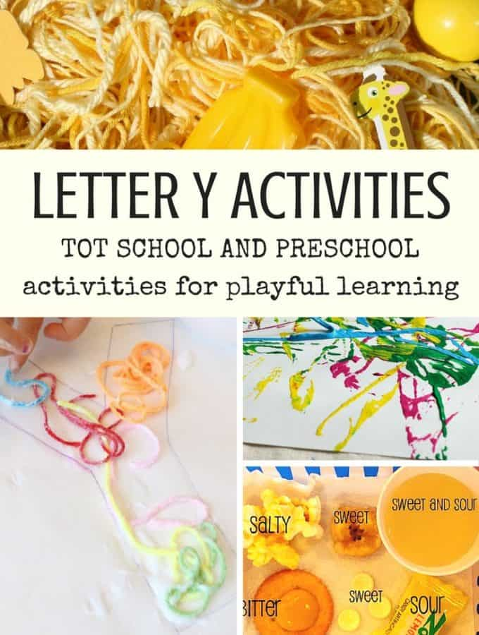 Best Toys 4 Toddlers - Letter Y activities for tot school and preschool, including activities with color yellow, yarn, yo-yo, yak and more.