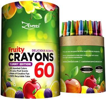 Top 10 Art & Craft Supplies For 4 Year Olds: Juicy Fruity Scented Crayons