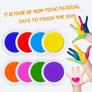 the best art supplies for 12 - 18 month old toddlers - washable large ink pads