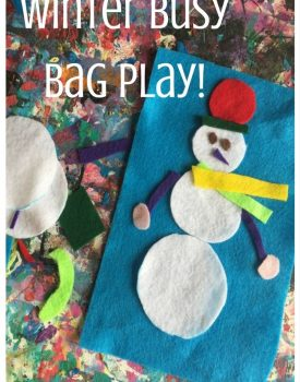 Snowman Winter Busy Bag