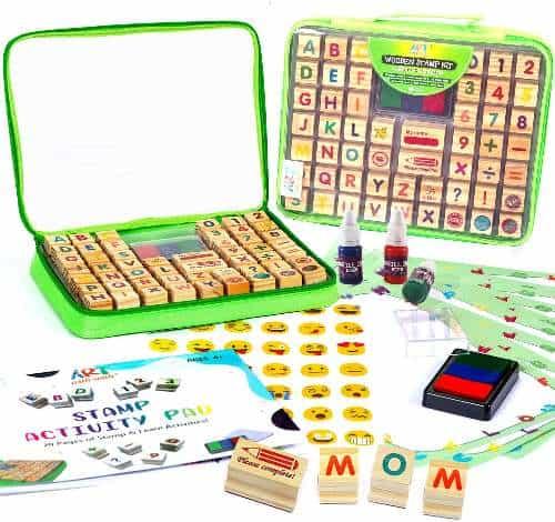 Wooden Stamp Set for Kids
