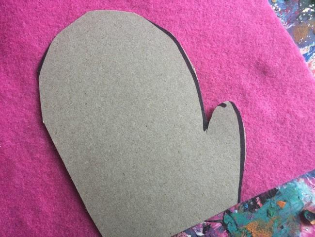 fine motor mitten sewing activity for preschoolers