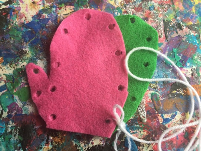 easy sewing activity for preschoolers