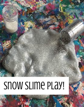 Winter Sensory Play: Faux Snow Slime
