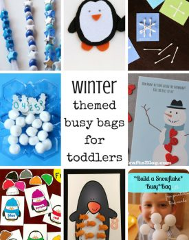 24 Winter Themed Busy Bags For Toddlers