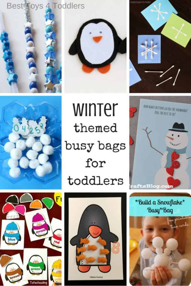 24 winter busy bag ideas for toddlers