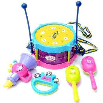 Top 10 Pretend Play Toys For 2 Year Olds: 5 Piece Kids Musical Instruments Band Kit