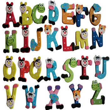 Best Play Set Toys For One Year Olds: Wooden Magnets - Alphabet