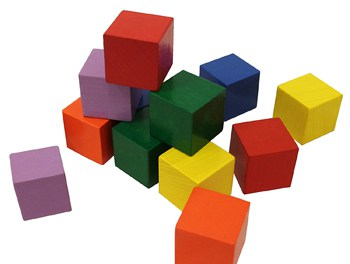 Best Play Set Toys For One Year Olds: Baby's First Basic Block Set - 12 Colorful Wooden Cubes