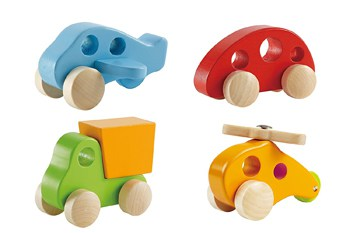 Best Play Set Toys For One Year Olds:Early Explorer Wooden Toy Vehicles