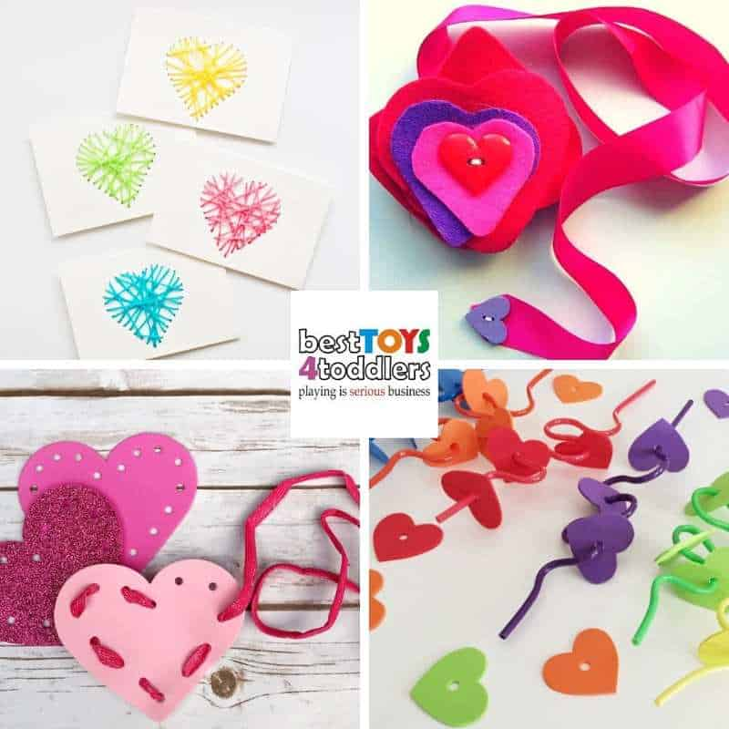 Color recognition and color sorting with fun fine motor Valentines day busy bags