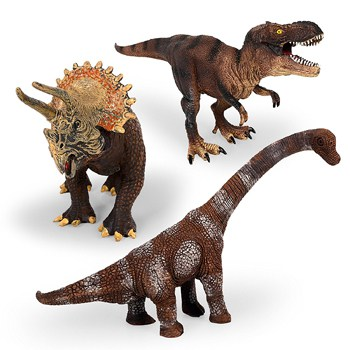Top 10 Pretend Play Toys For 3 Year Olds: Large Plastic Assorted Toy Dinosaurs