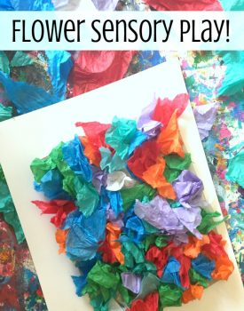 Faux Flower Sensory Play