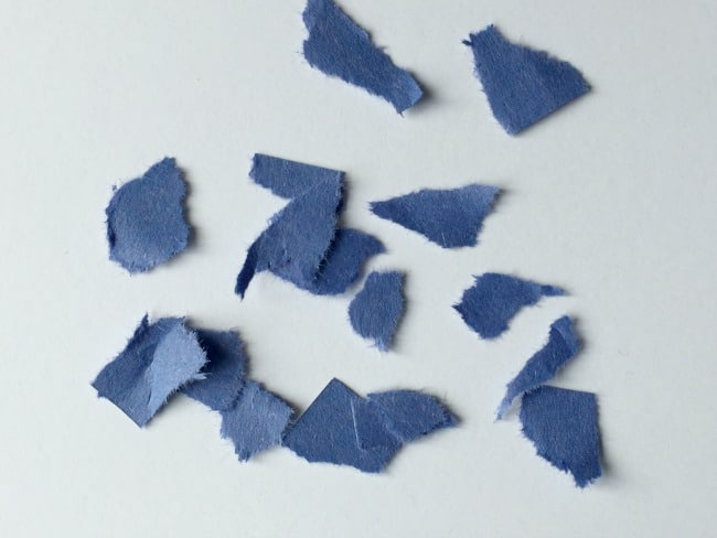 fine motor skill paper tearing