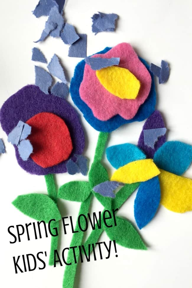 Spring flowers busy bag activity for toddlers and preschoolers - learn about parts of flower , spring weather and more