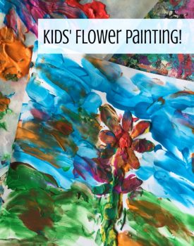 Kids' Finger Paint Flower Impressionist Art Activity!