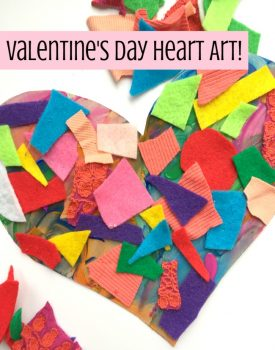 Valentine's Day Arts and Crafts: Textured Heart Activity