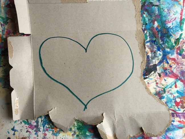 valentine's day heart art craft