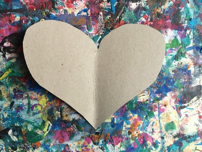 textured heart toddler activity