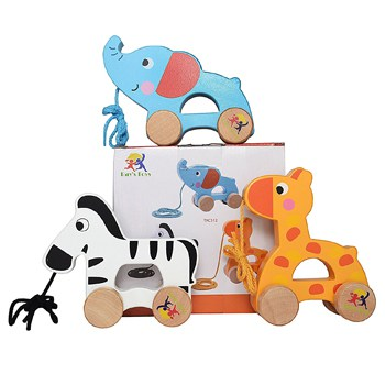 Best Play Set Toys For One Year Olds: Wooden Pull Along Toy Set
