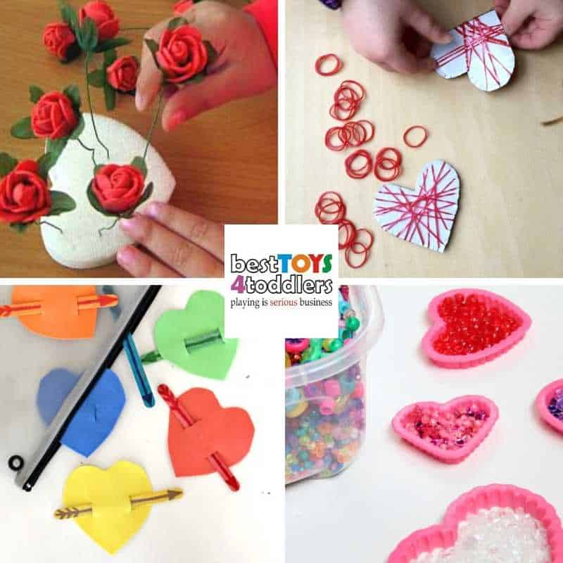 promote fine motor skills with fun Valentines day busy bags