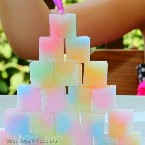 build fine motor skills in preschoolers with sugar cube play ideas