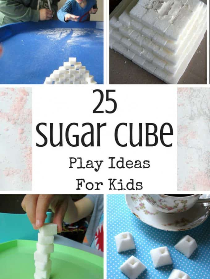 kids play ideas with sugar cubes