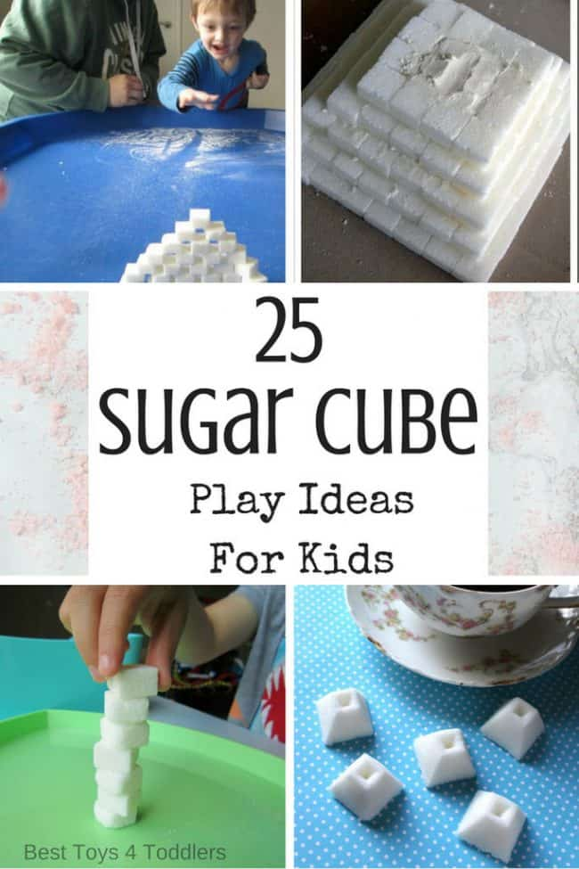 kids play ideas with sugar cubes for fine motor skills