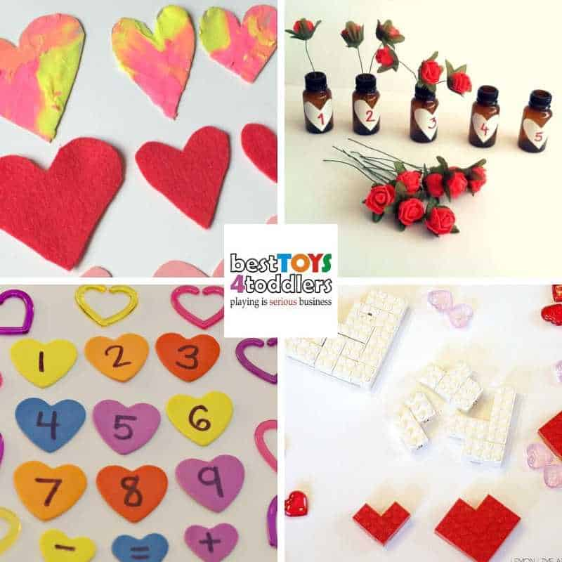 Valentine's day busy bags for toddlers and preschoolers to assist with early math concepts