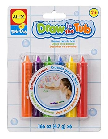 Top 10 Bath Toys For 2 Year Olds: Rub a Dub Draw In The Tub Crayons