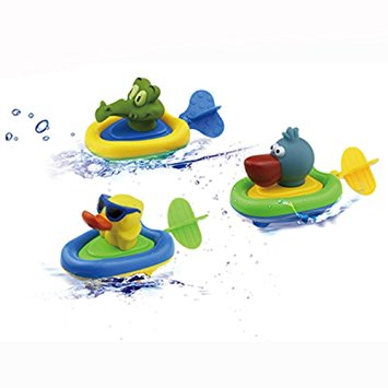 Top 10 Bath Toys For 2 Year Olds: Pull and Go Boat Car Playset