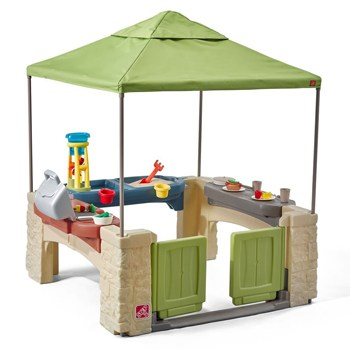 Top 10 Play Sets For 3 Year Olds: Playtime Patio With Canopy Playhouse