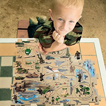 Top 10 Play Sets For 4 Year Olds: Military Vehicle Puzzle Track