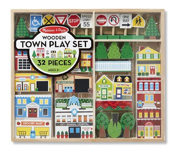 Top 10 Play Sets For 3 Year Olds: Wooden Town Play Set