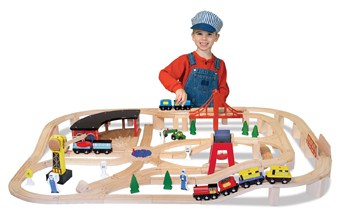 Top 10 Play Sets For 3 Year Olds: Wooden Railway Train Set