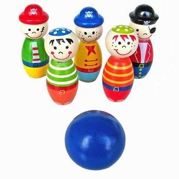 Top 10 Play Sets For 2 Year Olds: Wooden Bowling Set