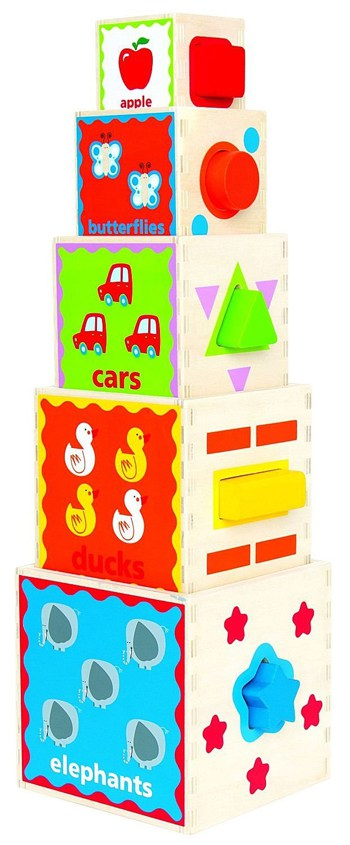 Top 10 Play Sets For 2 Year Olds: Wooden Nesting Block Set