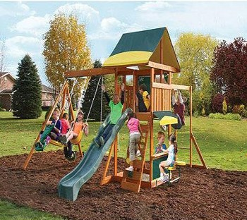 Top 10 Play Sets For 4 Year Olds: Wooden Play Swing Set
