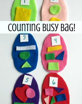 Math Busy Bag: Counting Eggs