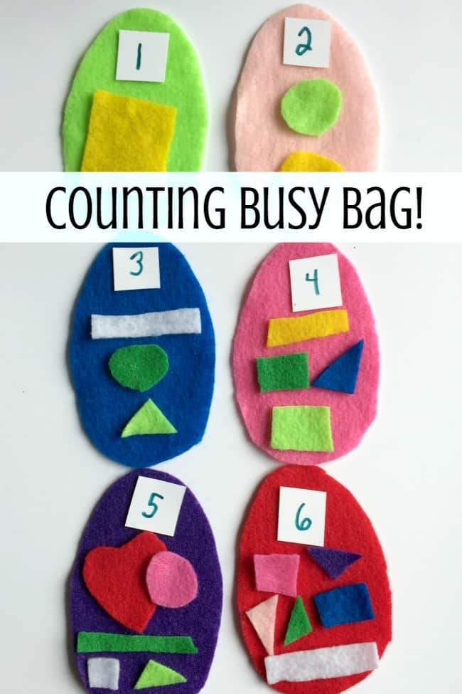 Easter egg counting busy bag