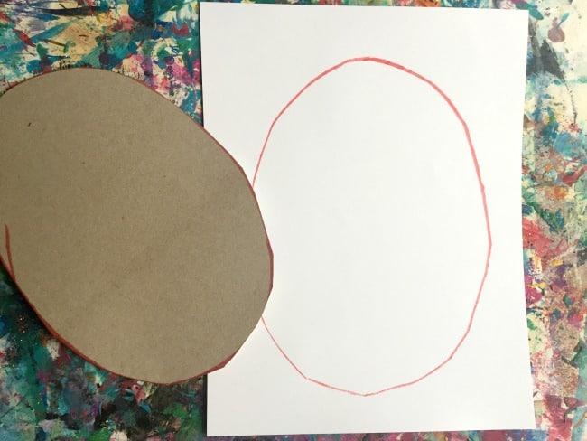 drawing ovals fine motor practice in preschool
