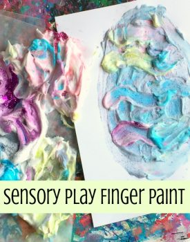 Sensory Play Shaving Cream Paint